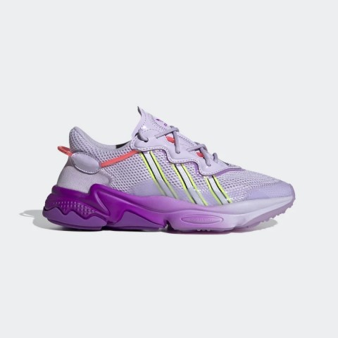 Bliss Purple/Cloud White/Signal Pink Adidas Originals Ozweego Women's Shoes FW2736