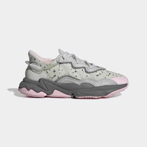 Grey One/Grey Two/Clear Pink Adidas Originals Ozweego Women's Shoes FX6104